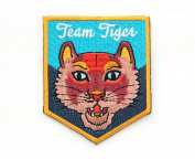 Team Tiger Embroidered Sew or Iron-on Backing Patch