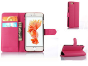 iPhone 6/6s Flower Wallet Case-Aurora® Rose Red iPhone 6s 6 4.7 TPU Leather Wallet Card Slot Cover with Strap and Kickstand for iPhone 6s 6 4.7