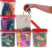 Plastic Stackable Craft Storage Box with Handles