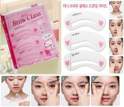 3 Style Women Magic Eye Brow Class Drawing Guide Eyebrow Stencil Template Card