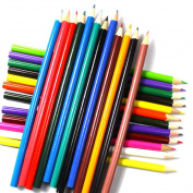 LEFV™ 24 Pack Coloured Pencil Sketch Draw Set Drawing and Sketching Art Colouring Book Wood Charcoal Pencils for Premier Proffessional User - Assorted Colours