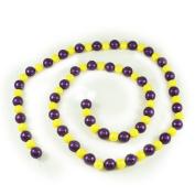 Purple and Yellow Glitter Ball Garland - 1.7m