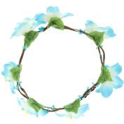 EOZY Ladies Handmade Artificial Flower Hair Wreath Wedding Prom Halo Garland 18cm diameter