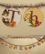 Bethany Lowe Vintage Inspired Thanksgiving Disc 1.8m Garland