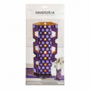 David Tutera Decorative Pop-up Centrepiece Die Cut Vase Casual Elegance Purple 30cm . Tall