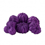 Shindigz Halloween Party Table Decorative Purple Glitter Mini Pumpkins