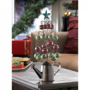 GHP Wire Tree Sprouts w Rustic Watering Can Base & Five-Point Star Top