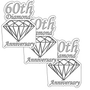 60TH ANNIVERSARY DIAMOND DECO FETTI