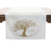 "Tin Parade Vintage Party Goods- ""Grateful"" Fabric Table Banner"