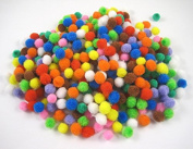 500pcs Approx 5-9mm Mixed Colours Pompom Fur Ball