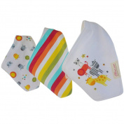 DZT1968® 3PCS Cotton Unisex Baby Triangle Scarf Feeding Smock Bibs Burp Cloth Towel (0-12 Months)