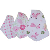 DZT1968® 3PCS Cotton Baby Girl Triangle Scarf Feeding Smock Bibs Burp Cloth Towel (0-12 Months)
