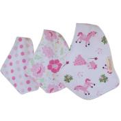 DZT1968® 3PCS Cotton Baby Girl Triangle Scarf Feeding Smock Bibs Burp Cloth Towel (0-12 Months)