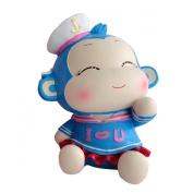 Cute Navy Style Blue Monkey Piggy Bank Wedding Xmas Christmas Birthday Valentine Gift
