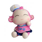 Cute Navy Style Pink Monkey Piggy Bank Wedding Xmas Christmas Birthday Valentine Gift