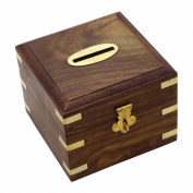 Safe Money Box Wooden Piggy Bank for Boys Girls and Adults set of 6