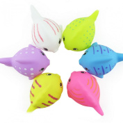 Happy Cherry Kids Fish Bath Sets(set of 6) - Floating Bath Tub Toys Squirts Toys