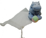 Flatopotaumus Musical Pull Down Blue Hippo Plush Toy
