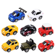 AxiEr Boys Children Advanced Alloy Pull Back Toy Car Model Emulation Car Static Model Car Gifts for Car Collectors-8pcs