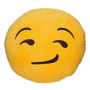 Magshining 32cm Emoji Smiley Emoticon Yellow Round Cushion Pillow Stuffed Plush Soft Toy