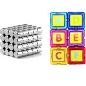AxiEr DIY 3D Magnetic Building Blocks Magnetic Tile Set Educational Toys for Kids Children