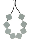Teething Bling Grey Sugar Cubes Teether Necklace