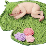 Yonger Frog Green Crochet Baby Blanket Hat Knitted Photography Prop