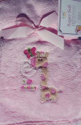 "Bundle Love Super Soft Embroidered Blanket "" I Love Mommy Giraffe"""