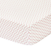 Petit Nest Chevron Fitted Crib Sheet, Penelope and Chloe Collection