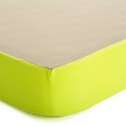Baby Deedee Fitted Crib Sheet, Khaki/Lime by baby deedee