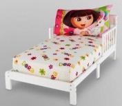 Nick Jr. DORA THE EXPLORER Dora Pets, 2pc Toddler Sheet Set, Fitted Sheet, Pillow case, Fits Crib Mattress, Baby, NEW, PINK, Girl