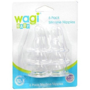 Wagi Silicone Nipples 6 Pack by Wagi