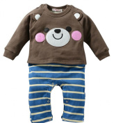 Collager Baby Infant Cotton Romper Mama and Papa Long Sleeve Onesies