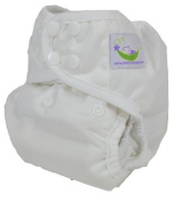 Sweet Pea One Size Nappy Cover (White) by Sweet Pea