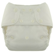 Blueberry Deluxe Nappy Snaps, White (Discontinued by Manufacturer) by Blueberry