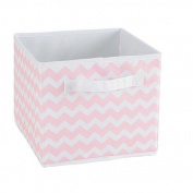 Koala Baby - Pink Chevron Print Canvas Folding Bin