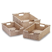 Gifts & Decor Bamboo Handle Woven Corn Husk Nesting Basket, 3-Piece by Gifts & Decor