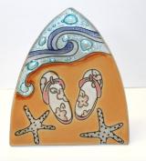 Whimsical Recycled Glass Night Light - Handmade and Fair Trade - Flip Flops