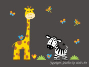 Baby Nursery Kids Children's Wall Decals: Safari Jungle Animals Wildlife Themed 100cm tall X 130cm wide (Inches)