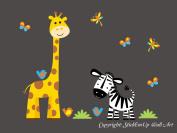 Baby Nursery Kids Children's Wall Decals: Safari Jungle Animals Wildlife Themed 100cm tall X 130cm wide (Inches)