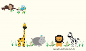 Baby Nursery Kids Children's Wall Decals: Safari Jungle Animals Wildlife Themed 140cm tall X 260cm wide (Inches)