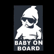 RadiantOrchid Glamorous Baby on Board Car Sticker Vinyl Decal Practical