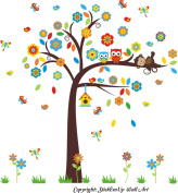 Baby Nursery Kids Children's Wall Decals: Forest Nature Woodlands Animals Wildlife Themed 230cm tall X 210cm wide (Inches)