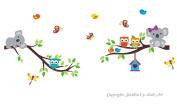 Baby Nursery Kids Children's Wall Decals: Safari Koalas Jungle Animals Wildlife Themed 90cm tall X 210cm wide (Inches)