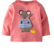 Baby Box Baby girls' kids Toddler long sleeve mouse T-Shirts