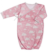 Blossoms and Buds Pink Cloud Cotton Kimono Gown, 0-6 months
