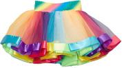 Wenchoice Rainbow Stripe Tutu Girl's