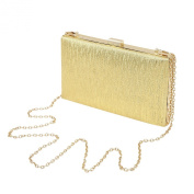 Elegant Large Solid Colour PU Leather Shine Hard Clutch Evening Bag Handbag