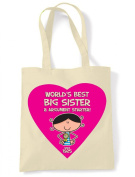 Tribal T-Shirts Worlds Best Big Sister Women's 90th Birthday Present Shoulder Tote Bag