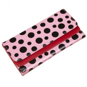 KSJK Women's Macarons Colourful Dots wallet Leather Trifold Long Purse